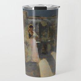 "John Singer Sargent ""Capri Girl on a Rooftop"" Travel Mug"