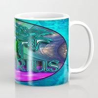 zodiac Mugs featuring Aquarius Zodiac by CAP Artwork & Design