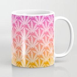 rainbow cannabis leaf print Coffee Mug
