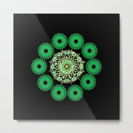 Anahata Flower in the Night Metal Print