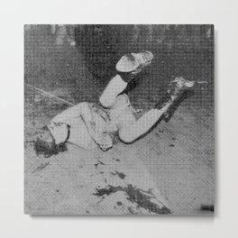 GG Allin on the floor Metal Print