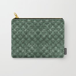 Quilted Forest Green Velvety Pattern Carry-All Pouch