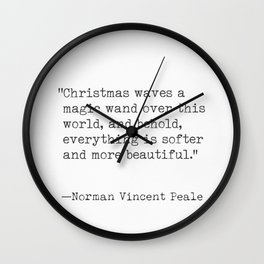 Christmas quote 7 Wall Clock