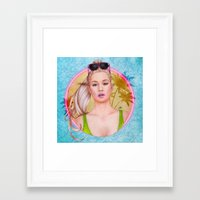 iggy Framed Art Prints featuring Iggy by Will Costa