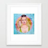 iggy azalea Framed Art Prints featuring Iggy by Will Costa