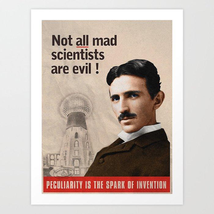 NikolaTesla Propaganda Style Art Print