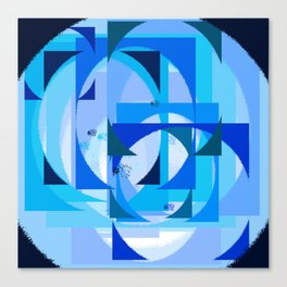 Blue dimension  pattern Canvas Print