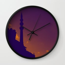Purple Mosque Wall Clock