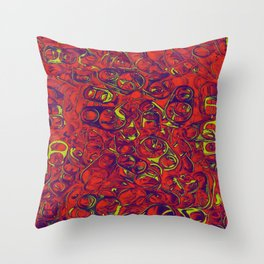 Ipad skins, Iphone, Computer, Canvas, Print, Red, Abstract, Funky Throw Pillow
