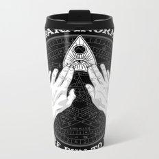 Me & Paranormal You - James Roper Design - Ouija B&W (white lettering) Metal Travel Mug