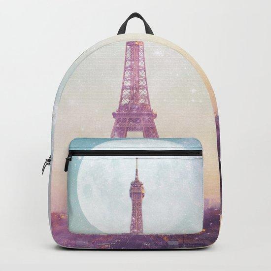 I LOVE PINK PARIS EIFFEL TOWER - Full Moon Universe Backpack