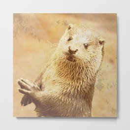 Vintage Animals - Otter Metal Print