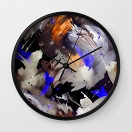 Abstract Watercolor Dark Wall Clock