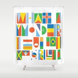 What A Wonderful World II Shower Curtain