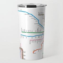 Chicago CTA Map, Chicago Wall Art, CTA Art Print Travel Mug