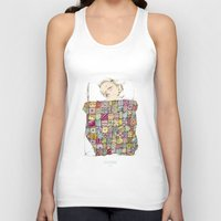 child Tank Tops featuring sleeping child by Cecilia Sánchez