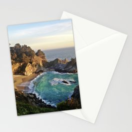 Big Sur Waterfall 2 Stationery Cards