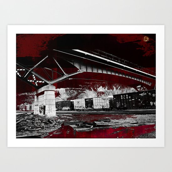 Under the tracks ~ Abstract Art Print
