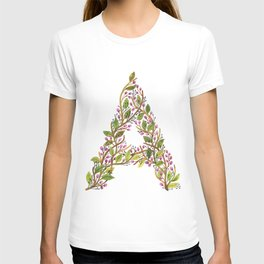 Leafy Letter A T-shirt