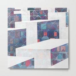 Modern Flow Cube Minimal Elegant Geometry Metal Print