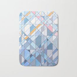 Triangle Pattern no.17 Light Blues Bath Mat
