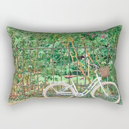 Charming Paris Bicycle Rectangular Pillow