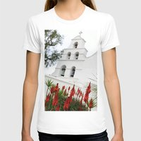 san diego T-shirts featuring San Diego Mission by Henrik Lehnerer