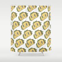 taco Shower Curtains featuring Taco Buddy by Frenemy