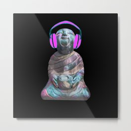 Happy Sitting Buddha Metal Print