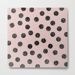 Black Dots Metal Print