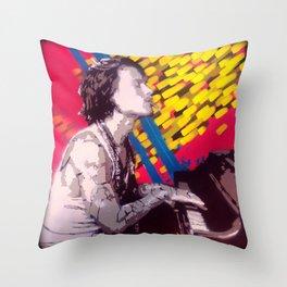 The Piano Man Throw Pillow
