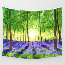 Bluebell woods Wall Tapestry