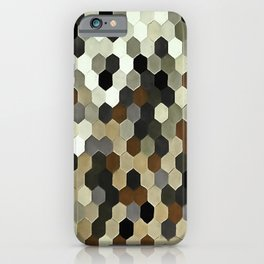 Honeycomb Pattern In Neutral Earth Tones iPhone Case