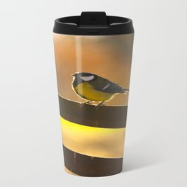 Great Tit On A Chair Travel Mug