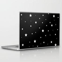 Scattered Stars - white on black Laptop & iPad Skin
