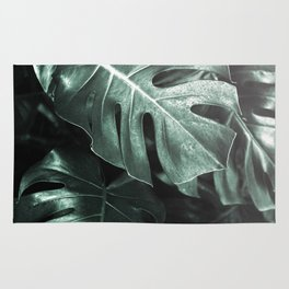 Monstera leaves, Palm Leaf Rug