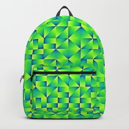 Green Lime Geo Pattern Backpack