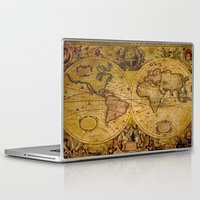 "vintage map Laptop & iPad Skins featuring VintaGe Map by ""CVogiatzi."