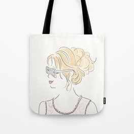 Brigitte's Morning Coffee and Updo Tote Bag