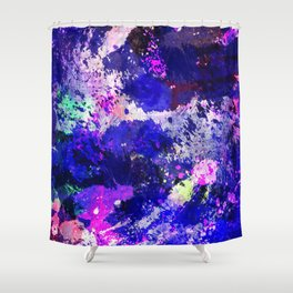 Freedom - Abstract In Blue And Purple Shower Curtain