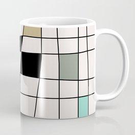 Mid Century Modern Warped Tiles Coffee Mug