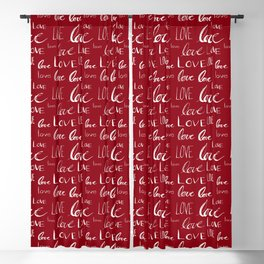 Words of Love // Burgundy Blackout Curtain