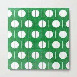 MCM Green Spurk Metal Print