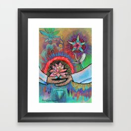 Gaia Connection Framed Art Print
