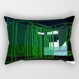 black and green Rectangular Pillow