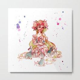 Spring Goddess Metal Print
