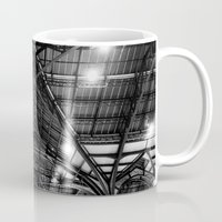 liverpool Mugs featuring Liverpool Street Station by Astrid Ewing