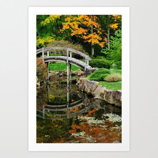 Early fall in the tea garden Art Print
