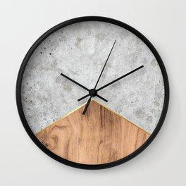 concrete arrow wood 345 wall clock
