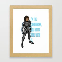 Commander Korra Framed Art Print